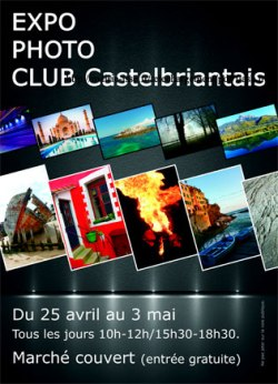 affiche expo photo club castelbriantais
